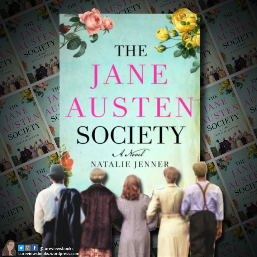The Jane Austen Society Graphic (characters coming out of the page)